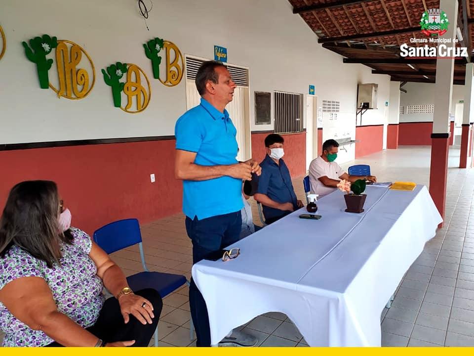 Reunião com conselho de Desenvolvimento sustentável e solidário - CMDS